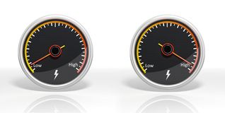 Two fuel dial meters Royalty Free Stock Photography