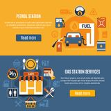 Two Fuel Pump Banner Set Stock Photo