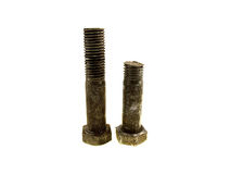 Two fulfilled bolts Royalty Free Stock Image