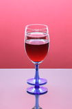 Two Full Wine Glasses Royalty Free Stock Photos