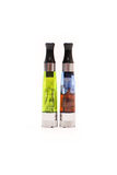 Two Fun Colored Atomizer Tanks Royalty Free Stock Photo