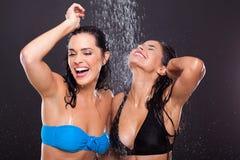 Fun women water Stock Images
