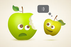Two funny apples Stock Image