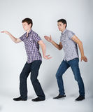 Two funny boys fooling around Stock Photography