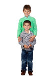 Two funny brothers Stock Photography