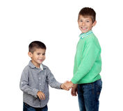 Two funny brothers Royalty Free Stock Images