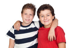 Two funny children Royalty Free Stock Images