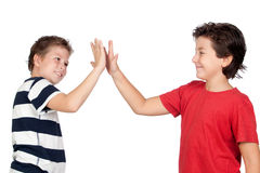 Two funny children Stock Photo