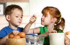 Two funny cooks Stock Photo