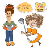 Two funny cooks items set Stock Images