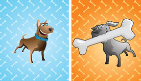 Two funny dogs Royalty Free Stock Image