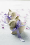 Two funny easter bunny Royalty Free Stock Photos