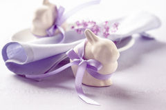 Two funny easter bunny Royalty Free Stock Photo