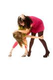 Two funny girls Stock Photography