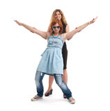 Two funny girls Stock Photo