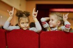 Children in cinema Stock Image