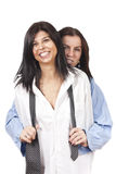 Two funny ladies Royalty Free Stock Images