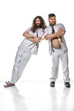 Two funny, lazy doctors playing fools Royalty Free Stock Image