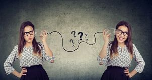 Free Two Funny Looking Women Having Troubled Communication Royalty Free Stock Photos - 118965228