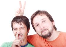 Two funny men Stock Photo