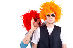 Two funny men Royalty Free Stock Photo