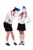 Two funny mimes Royalty Free Stock Photography