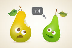 Two funny pears Royalty Free Stock Photos