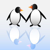 Two funny penguins Royalty Free Stock Image