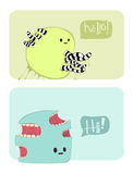 Two funny vector characters Royalty Free Stock Images