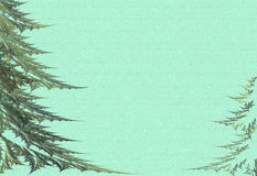 Two fur-trees on a green background. Fractal a fur-trees on a green background Royalty Free Stock Photo