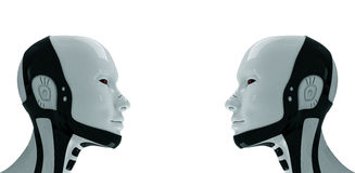 Two future robots. 3d Stock Image