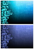 Two futuristic backgrounds. Set of two abstarct futuristic backgrounds with square pattern Royalty Free Stock Photos