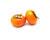 Two Fuyu persimmon isolated Royalty Free Stock Photography