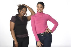 Two gal pals portrait Royalty Free Stock Photos