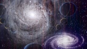 Two galaxies Universe