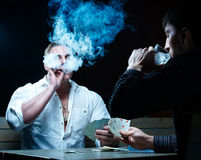 Two gamblers Royalty Free Stock Photography