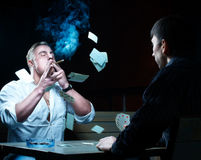 Two gamblers Stock Image