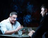 Two gamblers Stock Photo