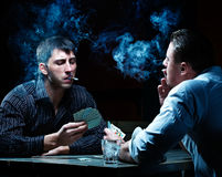 Two gamblers Stock Photos