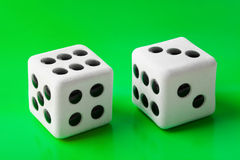 Two gambling dices Royalty Free Stock Photography