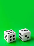Two gambling dices Stock Image