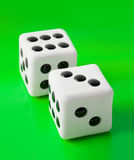 Two gambling dices Royalty Free Stock Image
