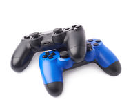 Two gaming console controllers isolated Stock Photos