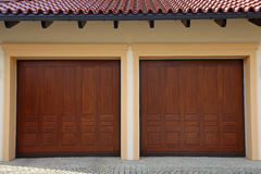 Two Garage Doors Stock Photo