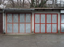 Two garage doors Royalty Free Stock Photos