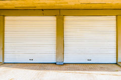 Two garage doors Stock Photos