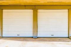 Two garage doors Stock Photos