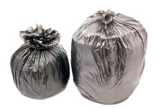 Two garbage bags Royalty Free Stock Photography