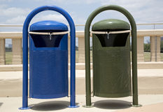 Two garbage bins Royalty Free Stock Image