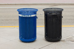 Two garbage cans Royalty Free Stock Photo